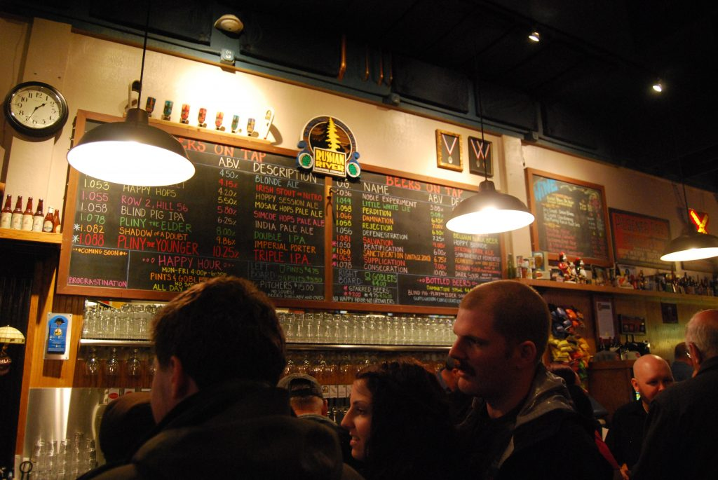 Final shot of the entire tap list and the (somewhat) crowded bar.