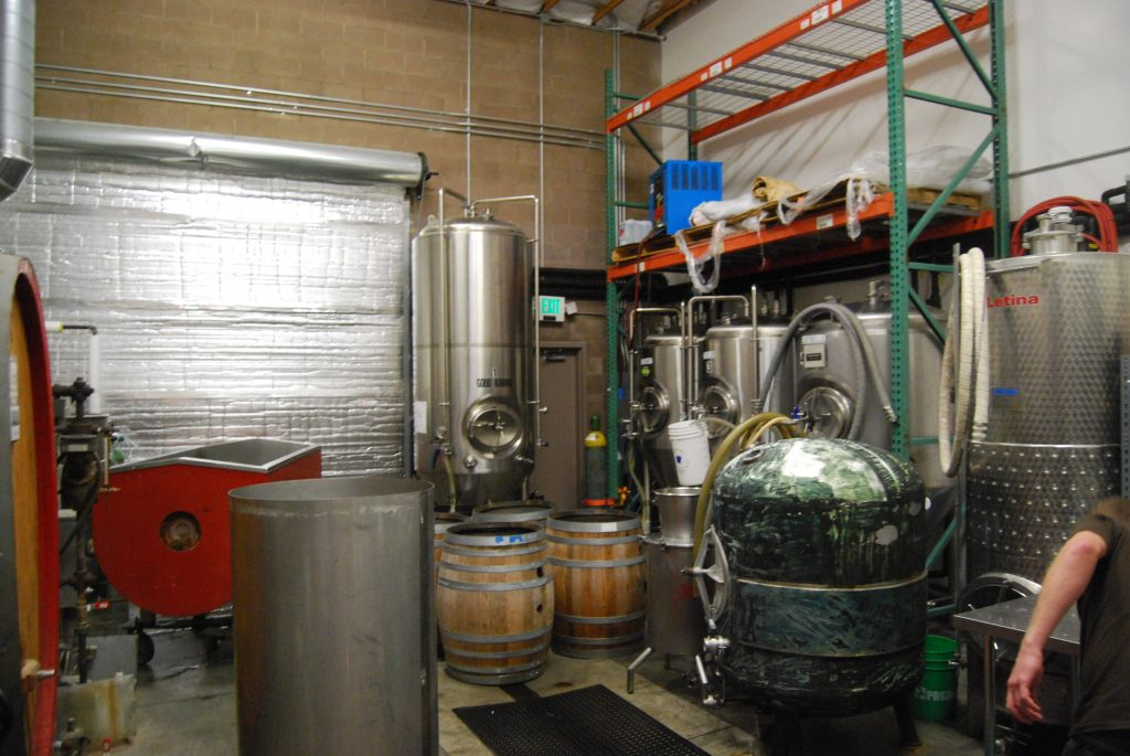 Here's the brewery tour. Cask 200 is on the left...