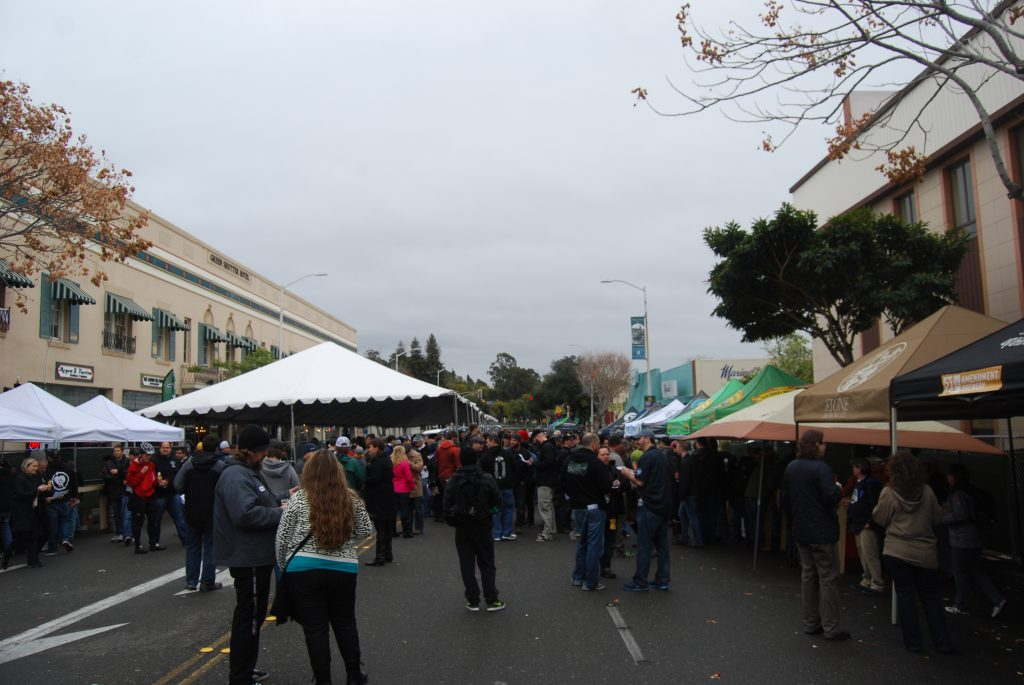 View from the DIPA tents (on the right).
