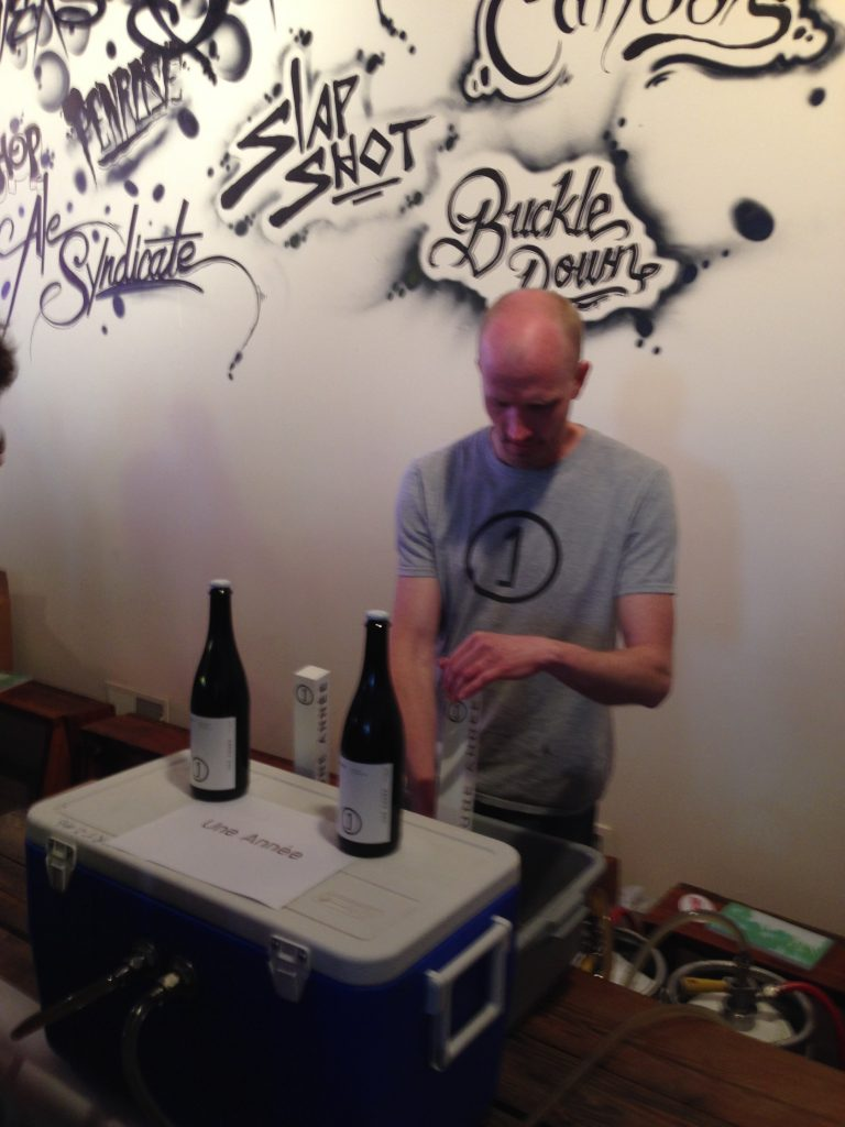Jerry Nelson pouring Austere and Maya (in that sweet shirt!).
