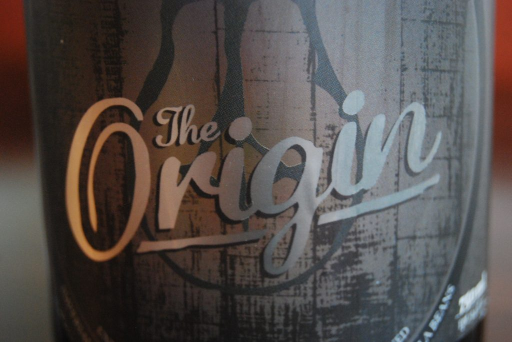 The start of something great - The Origin, Side Project's first bottle.