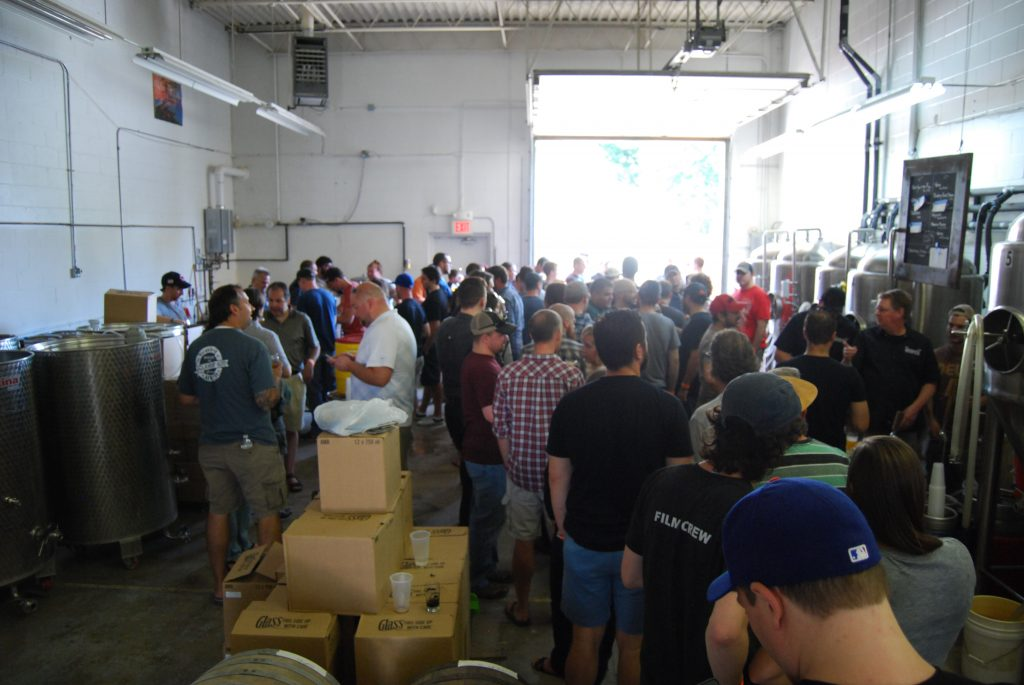 View of the release party from the extra bottle line.