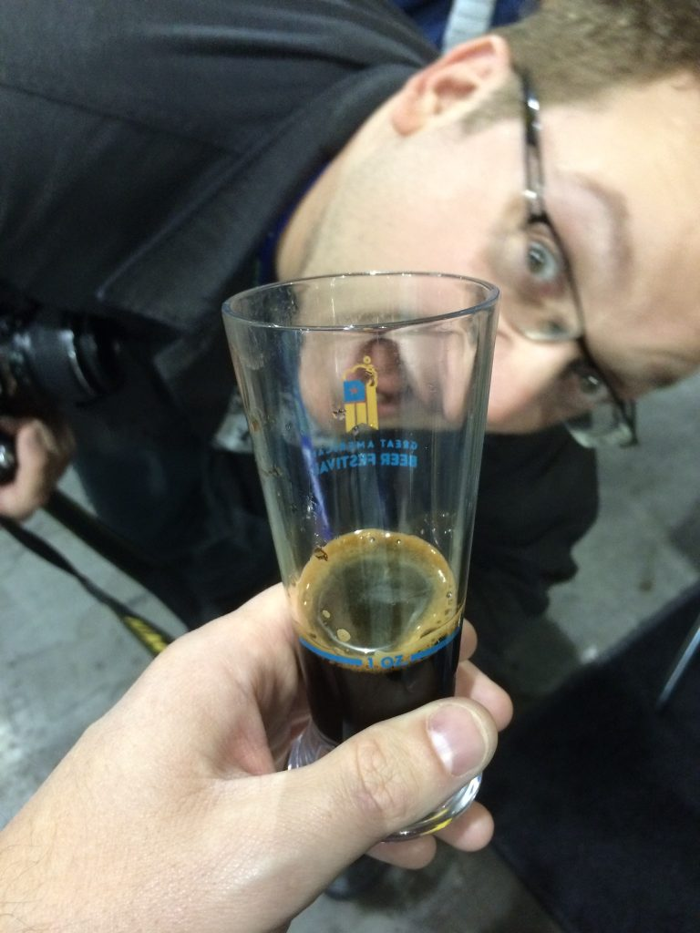 Craig + beer fest = photobombing the pic of your pour of Assassin.