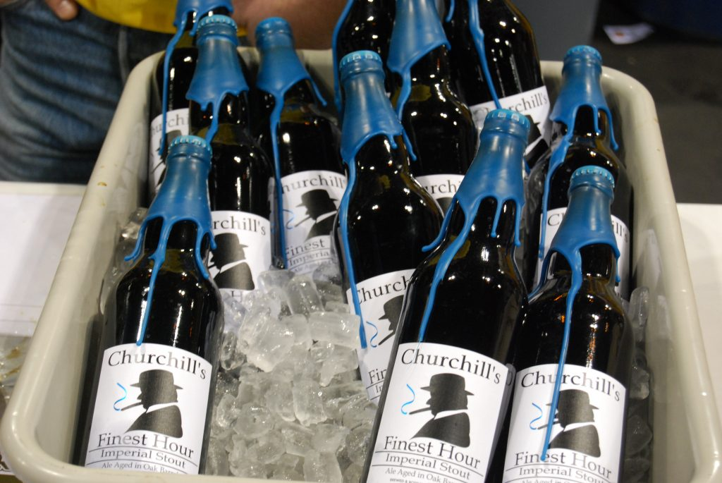 Churchill's Finest Hour, at the Port Brewing booth.