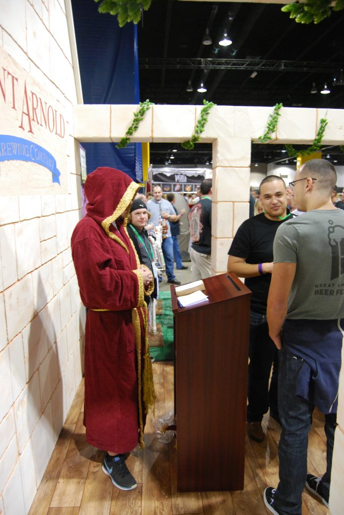 Talk about experience - St. Arnold was actually marrying people at their booth. No joke.