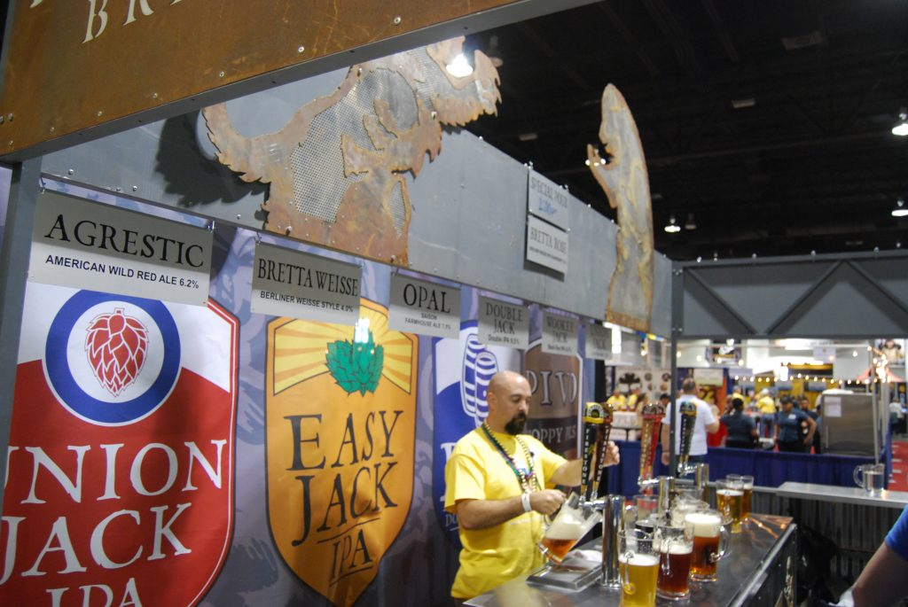 The Firestone Walker booth.