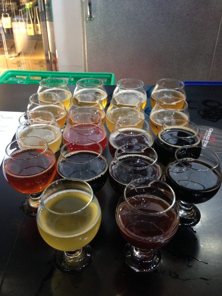 All 18 taps, together as one massive flight.