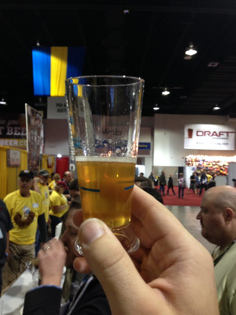 My first GABF 2014 pour - Cable Car 2013.