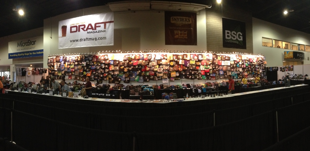 The swag wall - so expansive it needed the panoramic shot.