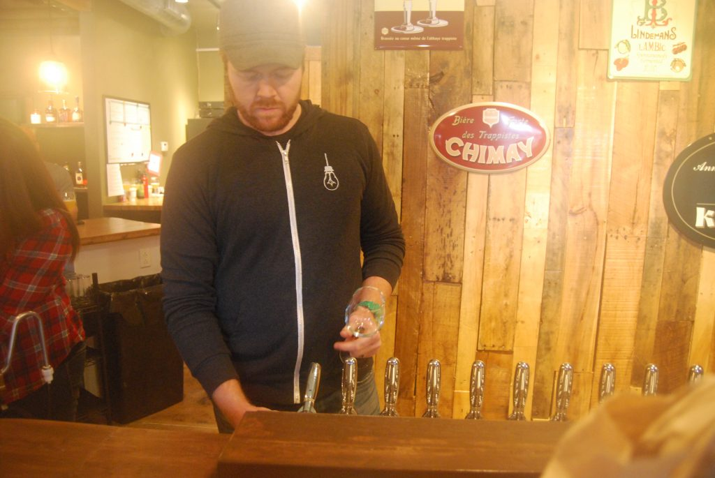 This is what Cory King did the first thirty minutes of being open - pour Saison du Ble.