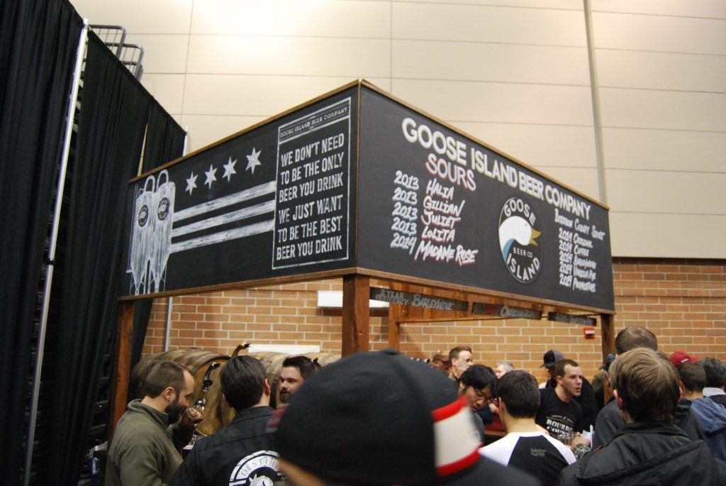 Goose Island's corner booth with their tappings.