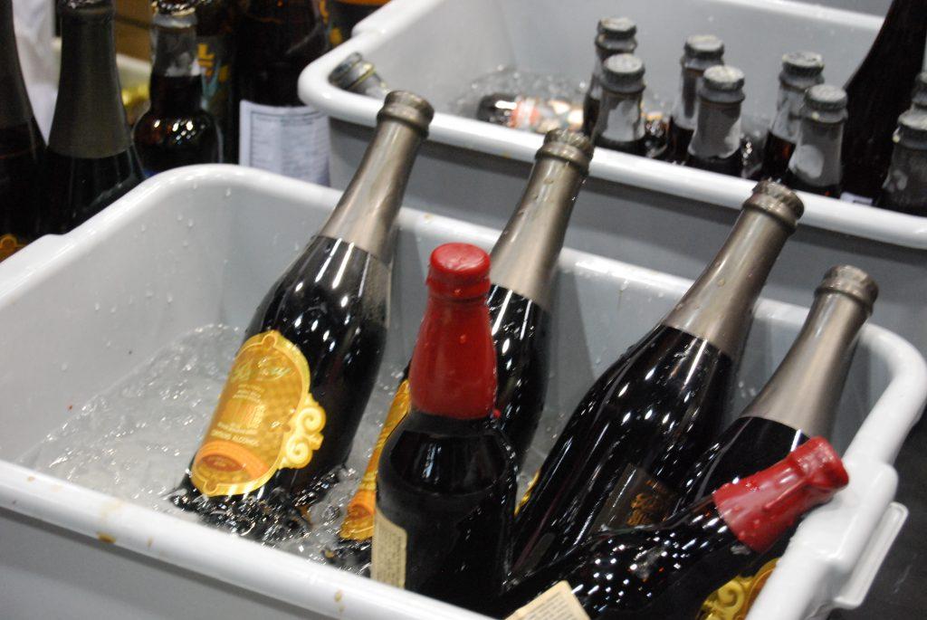 Bottles of Fremont's Bourbon Dark Star with The Bruery's Sucre.
