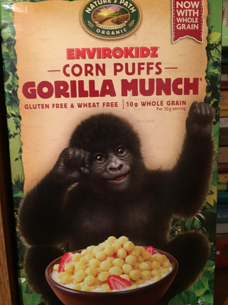 Burundi's happy to be here with his Gorilla Munch!