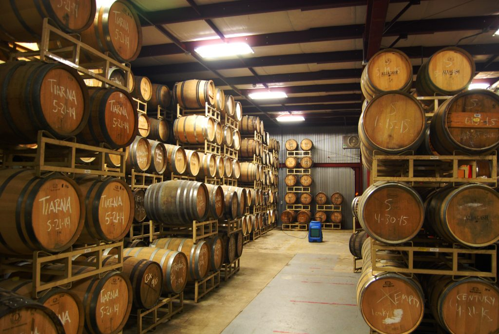 We know our readership and they love barrels, so here are Allagash's barrels!