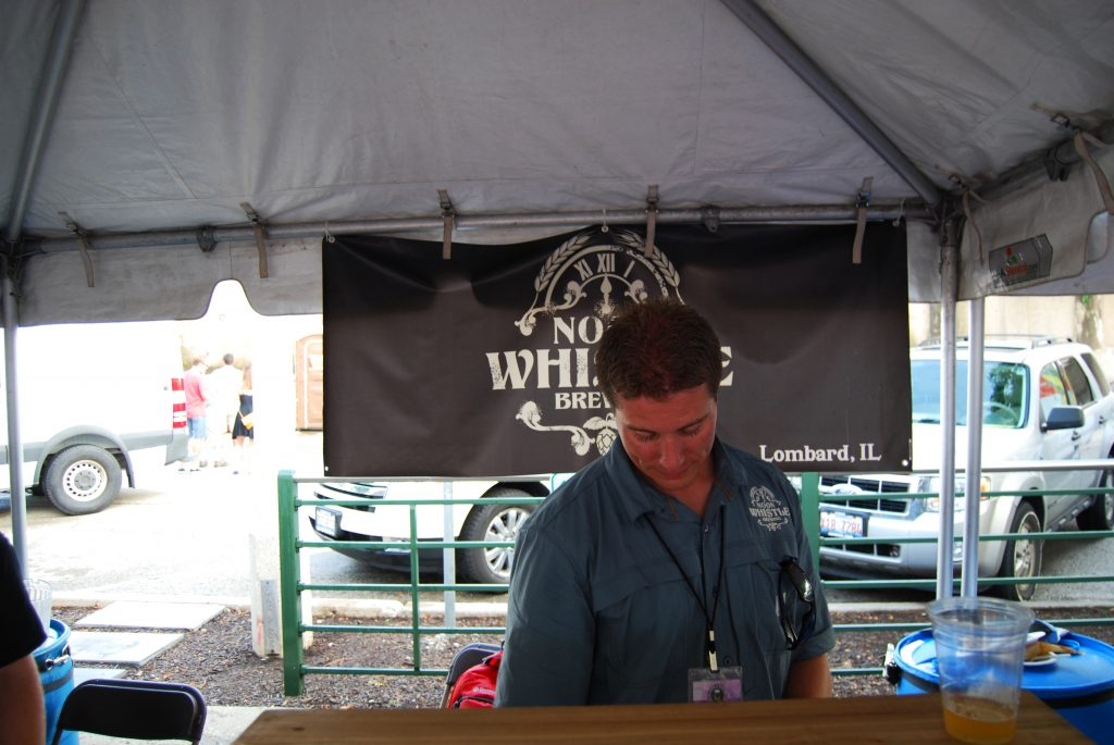 """Mike Condon pouring me one of my """"walking"""" beer of the fest - the refreshing Gose Smack."""