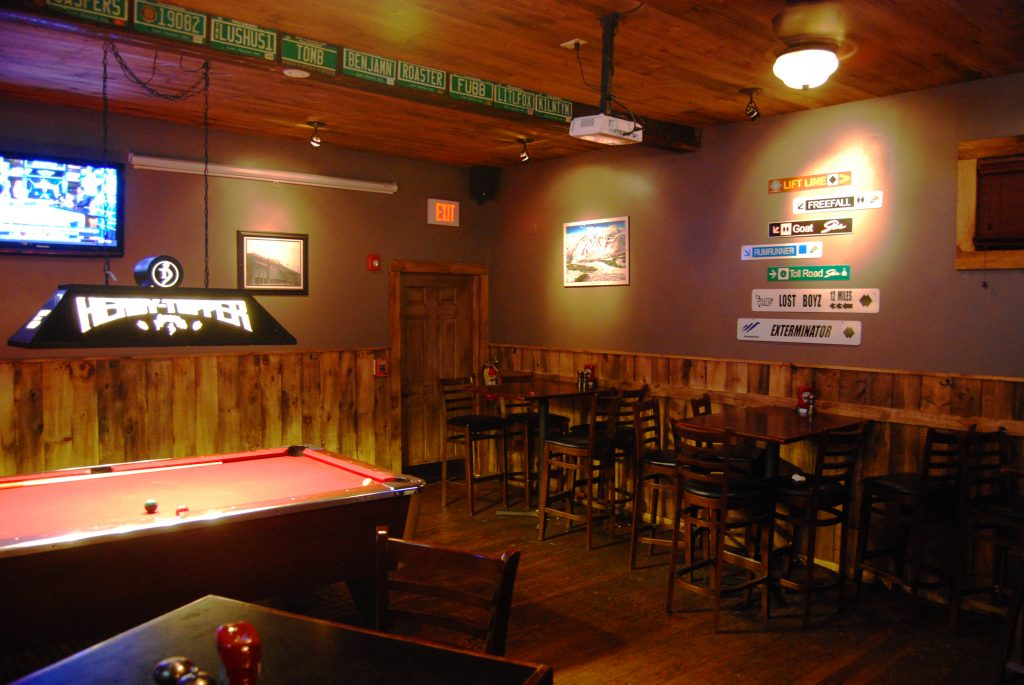 "The ""sports bar"" area of The Reservoir."