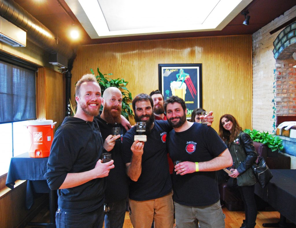 Spiteful again, this time with the StoutFest Brewer's Award, personally sanded down by Jon Naghski.
