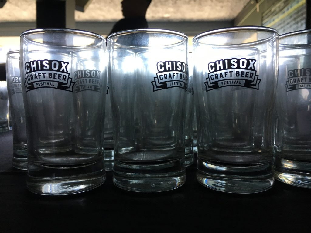 chisox craft beer festival glasses